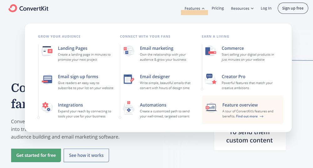 Find an Email Marketing Platform - ConvertKit